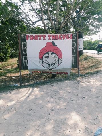 Forty Theives Beach Bar & Restaurant entrance